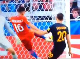 Martin Rodriguez a égalisé contre l'Australie. Gol