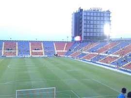 El Ciudad de Valencia, durante la presentación de la nueva plantilla del Levante. Twitter