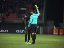 Balotelli was booked after complaining to the referee that Dijon fans were racially abusing him. AFP