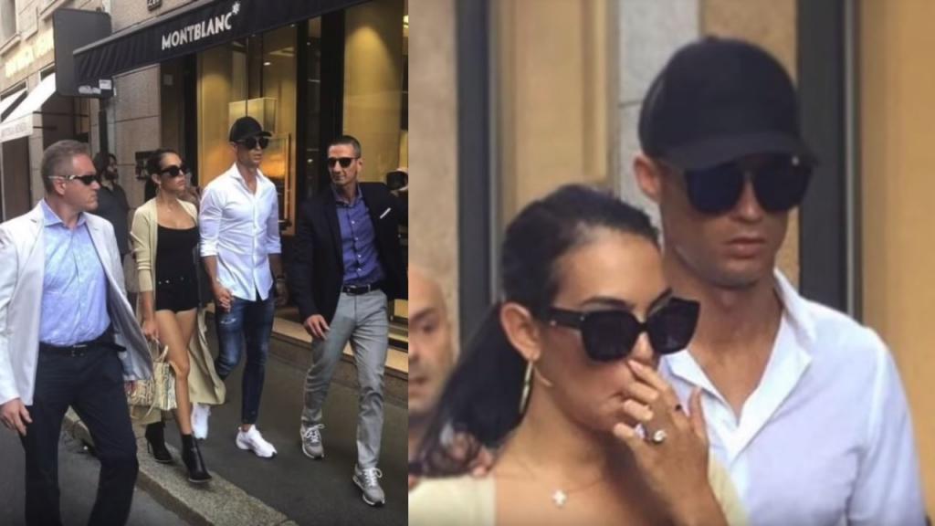 Cristiano Ronaldo y la manita indescreta con Georgina Rodríguez