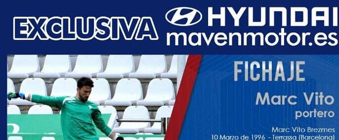 El Córdoba cede al meta Marc Vito al Extremadura por una temporada. ExtremaduraUD