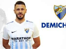 Le défenseur argentin Martin Demichelis s'est engagé mardi avec Malaga. MálagaCF