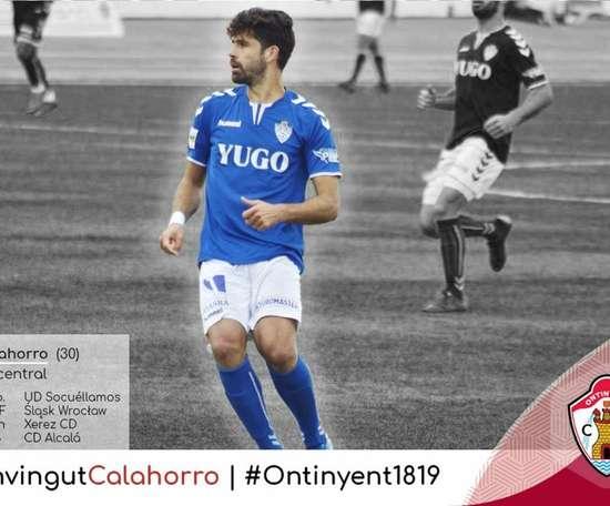 Juan Calahorro ya ha firmado con el Ontinyent. Twitter/OntinyentCF
