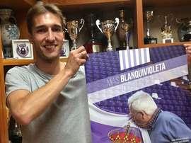 El defensa Rafa López regresa a Valladolid y firma hasta 2019. RealValladolid