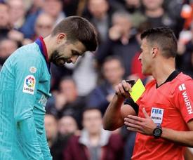 Piqué tranquiliza o Barça. EFE