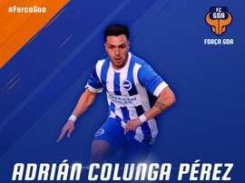 Adrián Colunga, nuevo jugador del Goa. FCGoa