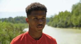 Adeyemi suena para jugar en el Barça. Captura/Youtube