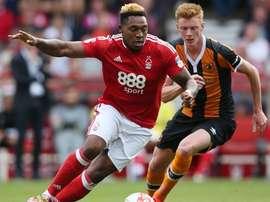 Burnley are keen on Forest striker Britt Assombalonga. NFFC