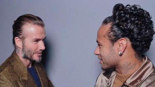 Beckham is keen on bringing the Brazilian to the MLS. Twitter/NeymarJr