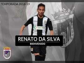 Renato ya ha firmado con el Badajoz. Twitter/CDBadajoz