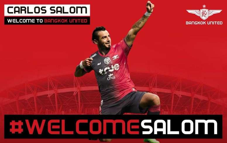 Salom ya luce los colores de su nuevo equipo. BangkokUnited