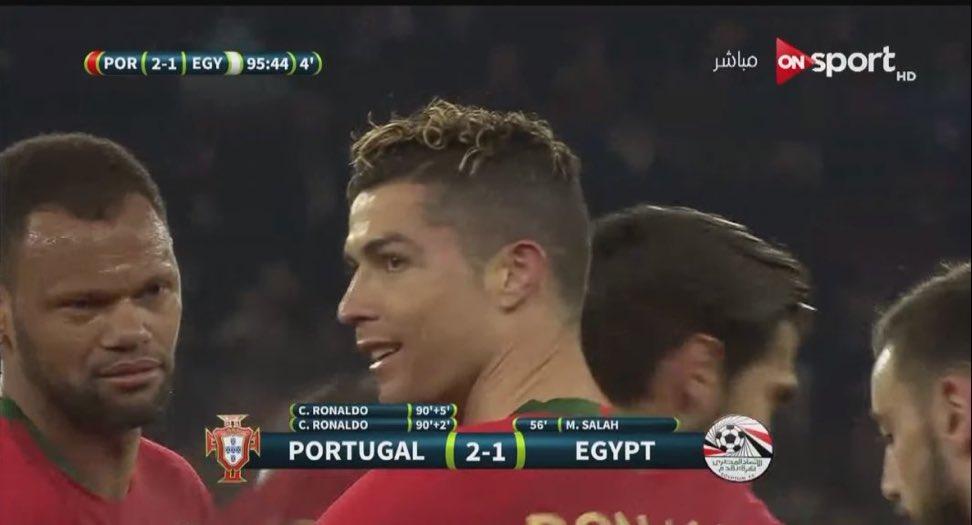 Cristiano Ronaldo marca doblete en victoria de Portugal sobre Egipto