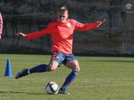 El delantero de 19 años Aleksandr Makarov, del CSKA. PFCCSKA