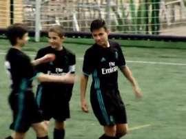 Iker Gil se lució en el partido. RealMadridCF