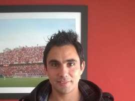 El delantero Guillermo Suarez, nuevo refuerzo de Douglas Haig. CADouglasHaig