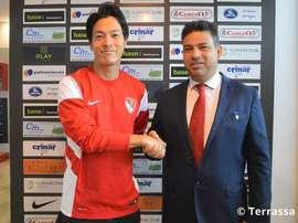Daisuke Uemura, nuevo jugador del Terrassa. TerrassaFC
