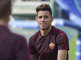 Sanabria in training with Roma. ASRoma