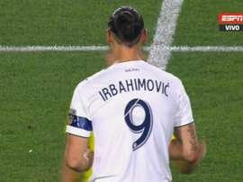 O erro tipográfico que alterou o nome de Ibrahimovic. Captura/ESPN