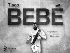 Eibar annonce the signing of Bebe. SDEibar