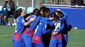 El Eibar Femenino se llevó el botín. Twitter/SDEibar