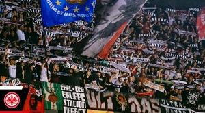 Francfort a été sanctionné par l'UEFA. Twitter/eintracht_esp