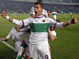 Sergio León, junto a Cristaldo, estará disponible ante el Osasuna. ElcheCF