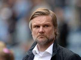 El entrenador de fútbol profesional Steven Pressley. AFP