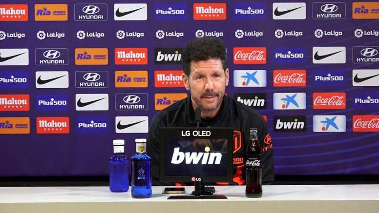 Simeone analysed Atleti's clash with Barca and Griezmann's return to the Wanda. Twitter/Atleti