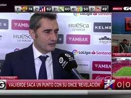 Valverde a expliqué son onze face à Huesca. GOL