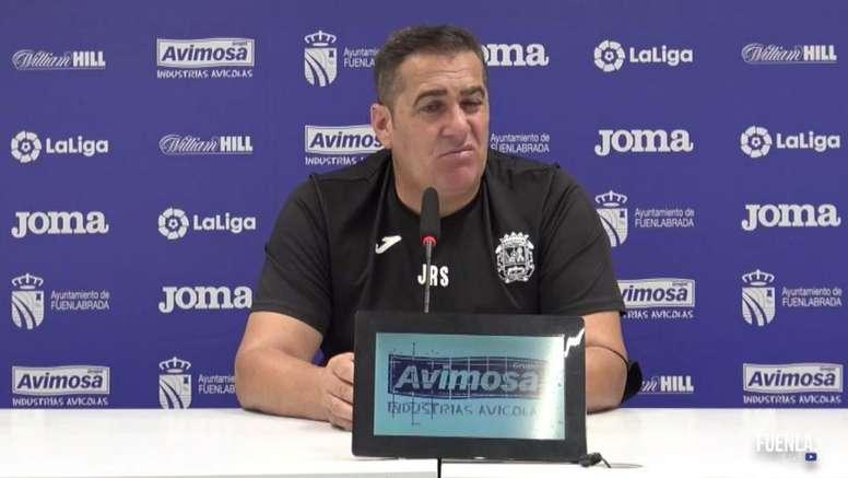 Sandoval habló en la previa. Captura/YouTube/CFFuenlabrada