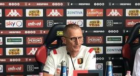 El Genoa despide a Aurelio Andreazzoli. Twitter/GenoaCFC