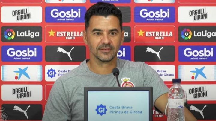 Míchel habló en rueda de prensa. Captura/GironaFC