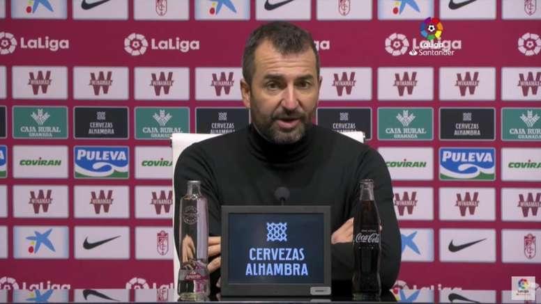 Diego Martínez habló en rueda de prensa. Captura/LaLiga