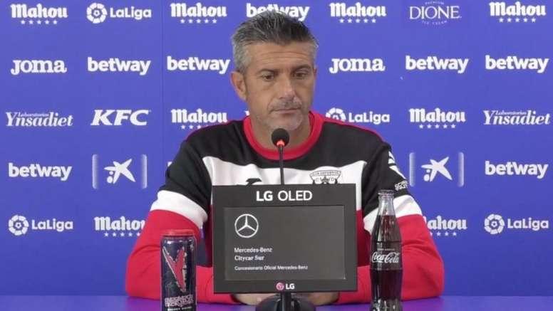 Josep Lluís Martí habló en la previa. Captura/CDLeganés