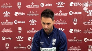 Sergio Rodríguez admite que se fueron tristes por la derrota. UDLogroñés