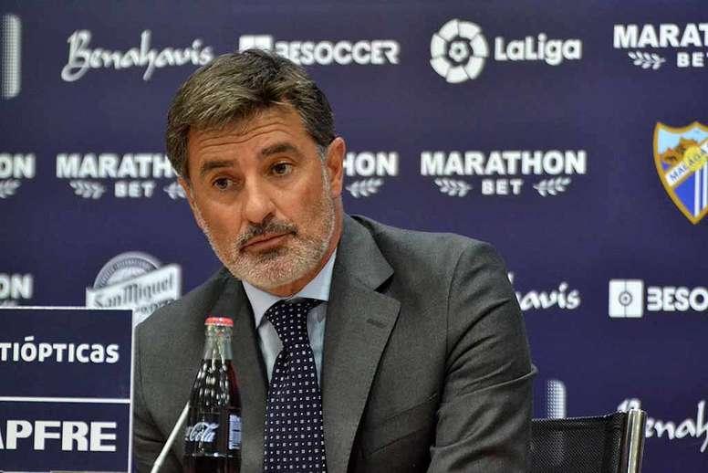 Conferencia de Prensa Real Bétis #1 El-entrenador-del-malaga--michel-gonzalez--en-la-rueda-de-prensa-tras-el-malaga-deportivo-de-la-jornada-12-de-laliga-17-18--besoccer