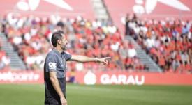 Vicente Moreno, satisfecho tras ganar a Las Palmas. RCDMallorca