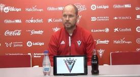 José Alberto habló en rueda de prensa. Captura/YouTube/ClubDeportivoMirandes