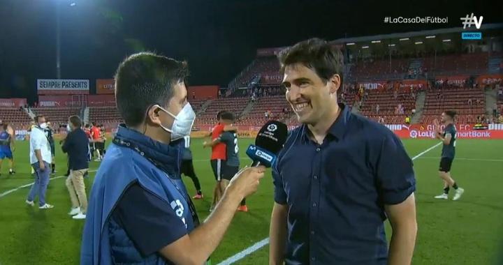 Iraola se mostró contento por el ascenso. Twitter/Vamos
