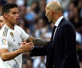 James Rodriguesz is earning Zidane's trust again. EFE