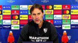 The Sevilla coach spoke about the Chelsea game. Screenshot/YouTube/SevillaFC