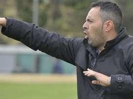 El entrenador del Tarazona, David Navarro. SDT