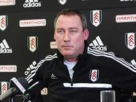 El entrenador holandés René Meulensteen, en una rueda de prensa cuando entrenaba al Fulham inglés. FulhamFC