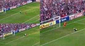 El error de la jornada en Argentina. Captura/TyCSports