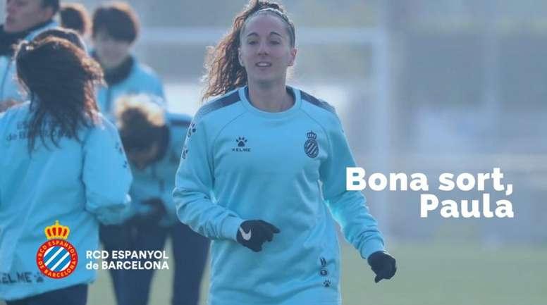 Llegó en 2018 procedente del Betis. Twitter/RCDEspanyolFemení