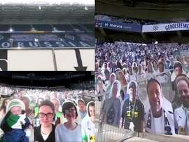 Gladbach will use photos of their fans. Screenshot/Reuters