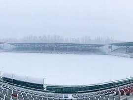 Burgos se llevó una copiosa nevada para inaugurar diciembre. Twitter/Burgos_CF