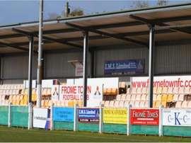El estadio del Frome Town, modesto equipo de la Non Premier League. FromeTownFC
