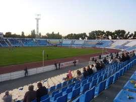 El estadio del Volgar Astrakhan, en Rusia. Soccerway