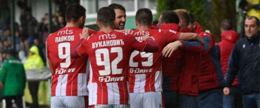 El Estrella Roja ganó el partido de cuartos de final de la Copa Serbia. Twitter/crvenazvezdafk